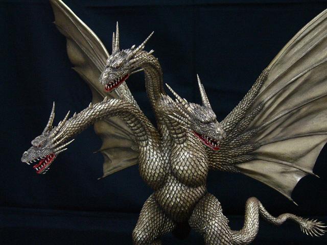 DAIMOS GODZILLA 1991 vs KING GHIDORAH Resin Kaiju Kits Godzilla models ...